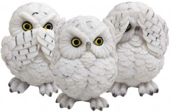 Picture of Three Wise Owls Figurine 8cm (Set of 3)