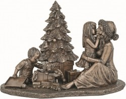 Picture of Happy Christmas Morning Bronze Figurine 25cm