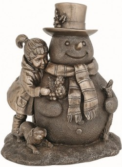 Picture of Snowman Friend Bronze Figurine 17.5cm
