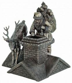 Picture of Santa is Here Bronze Figurine 26cm