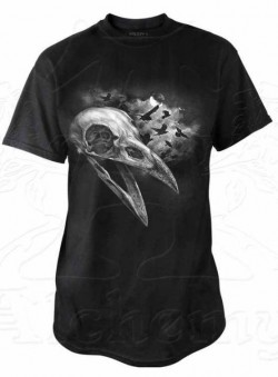 Picture of Corvinculus Raven Skull T Shirt Alchemy Gothic