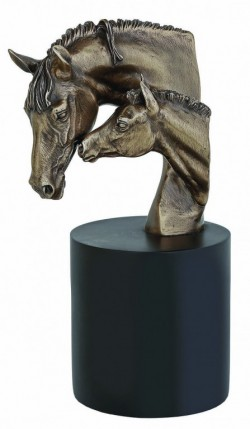 Picture of Mare and Foal Bronze Bust 28 cm D Dutton