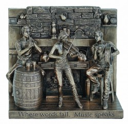 Picture of Where Words Fail, Music Speaks Bronze Figurine
