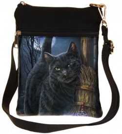 Picture of A Brush With Magick Cat Small Shoulder Bag (Lisa Parker) 23cm