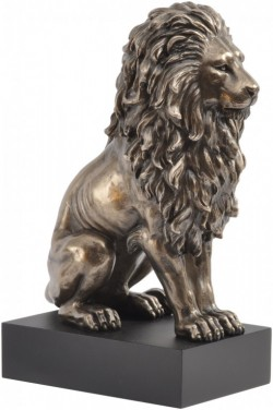 Picture of Classical Bronze Lion on Plinth 23 cm