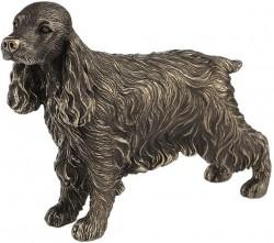 Picture of Cocker Spaniel Standing Bronze Dog Sculpture 18 cm