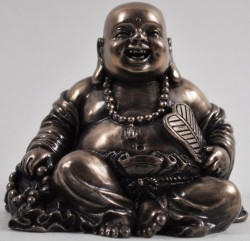 Picture of Happy Buddha Small Bronze Figurine