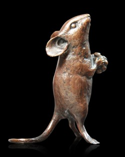 Picture of Mouse Holding Berry Bronze Figurine (Limited Edition) Michael Simpson
