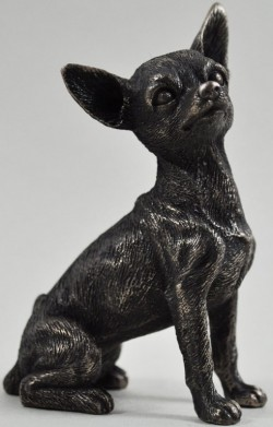 Picture of Chihuahua Sitting Bronze Dog Sculpture 8.5cm Small
