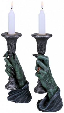 Picture of Light of Darkness Vampire Hand Candle Holders 20cm (Set of 2)