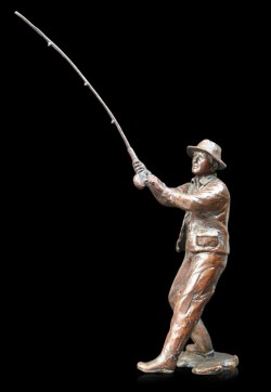 Picture of Fly Fishing Bronze Figurine (Limited Edition) Michael Simpson