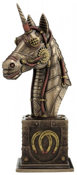 Picture of Steampunk Unicorn Bronze Figurine 22 cm