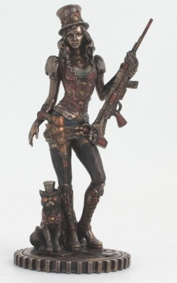 Picture of Steampunk Bounty Hunter Figurine Bronze