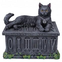 Picture of Midnight Black Cat Trinket Box Figurine