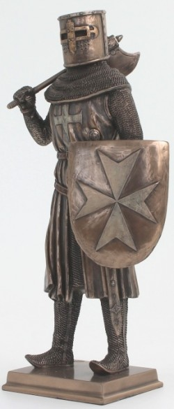 Picture of Knight with Sheild and Axe Bronze Figurine 31 cm