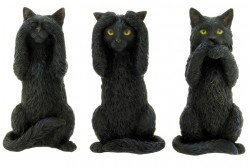 Picture of Three Wise Cats Figurine (Set of Three) 10 cm