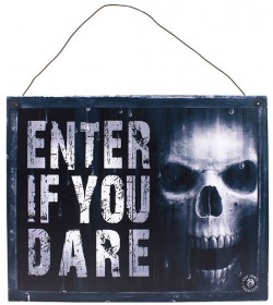 Picture of The Watcher Metal Sign Enter if You Dare 24 cm Anne Stokes
