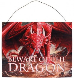 Picture of Dragon Lair Metal Sign Beware of the Dragon 24 cm Anne Stokes