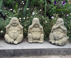 Picture of Three Wise Buddha Statues (Set of 3) 20 cm