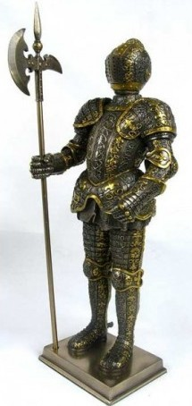 Picture of Knight with Halberd Bronze Figurine 33cm