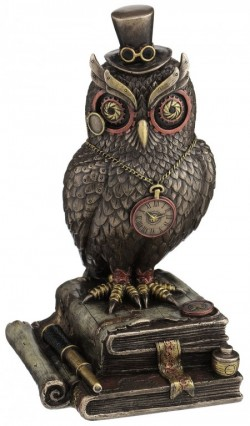 Picture of Steampunk Wise Owl Bronze Figurine