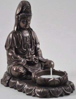 Picture of Meditating Buddha Tealight Holder 13cm