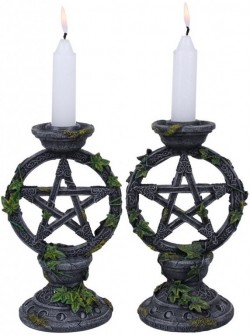 Picture of Wiccan Pentagram Candle Holders (Set of 2) 15 cm