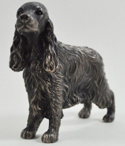 Picture of Cocker Spaniel Standing Bronze Dog Sculpture Small