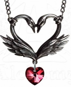 Picture of The Black Swan Romance Heart Pendant