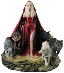 Picture of Howl Scarlet Lady and Wolves Figurine 23cm (Ruth Thompson)