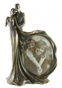 Picture of Together Forever Bronze Figurine with Frame 31 cm