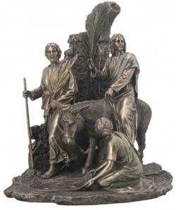 Picture of Jesus Enters Jerusalem Bronze Figurine 31 cm