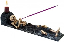 Picture of Ashes to Ashes Skeleton Candle Holder 28cm