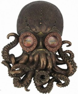 Picture of Bioctopus Steampunk Wall Plaque Figurine 34cm LARGE