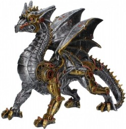 Picture of Dracus Machina Steampunk Dragon Large Figurine 31cm
