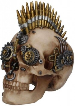 Picture of Clockwork Bullet Ornamental Skull 23cm LARGE