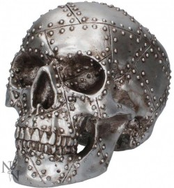 Picture of Rivet Head Skull Ornament 19cm