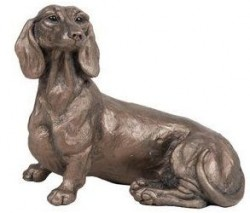 Picture of Rififi Dachshund Dog Sitting Bronze Sculpture Harriet Dunn
