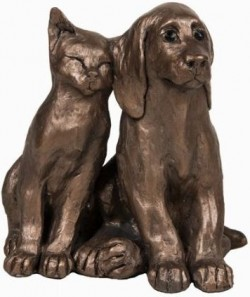 Picture of Jack and Millie Friends Dog and Cat Ornament Paul Jenkins