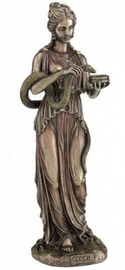Picture of Hygieia Goddess of Health Bronze Figurine 27 cm