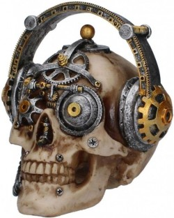 Picture of Techno Talk Steampunk Skull Ornament 15cm