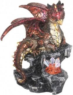 Picture of Amberz Dragon Figurine (Alator) LIGHT FEATURE 16cm