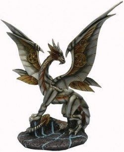 Picture of Iron Wing Steampunk Dragon Bronze Figurine 26.5cm