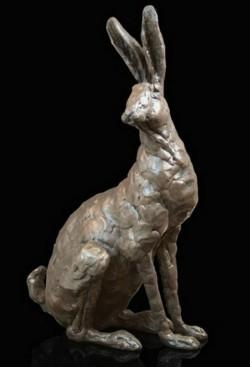 Picture of Hazel Hare Sitting Bronze Sculpture Grant Palmer 30 cm