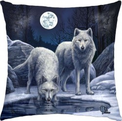 Picture of Warriors Of Winter Wolf Cushion (Lisa Parker)