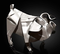 Picture of Pig Hallmarked Sterling Silver Miniature NOMI Design