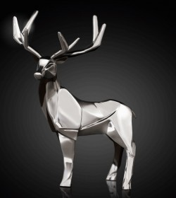 Picture of Stag Hallmarked Sterling Silver Miniature NOMI Design