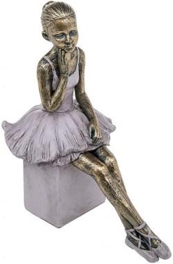Picture of Pretty Ballerina Thinking Bronze Figurine 22cm