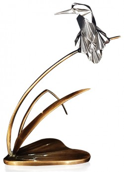 Picture of Kingfisher Hallmarked Sterling Silver and Bronze Figurine NOMI Design