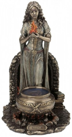 Picture of Brigid Bronze Figurine 25cm Pagan Goddess